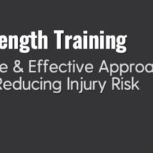 Strength Training Is Injury Prevention