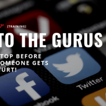 To the social media training gurus…