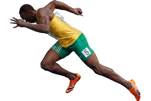 usain bolt sprint start