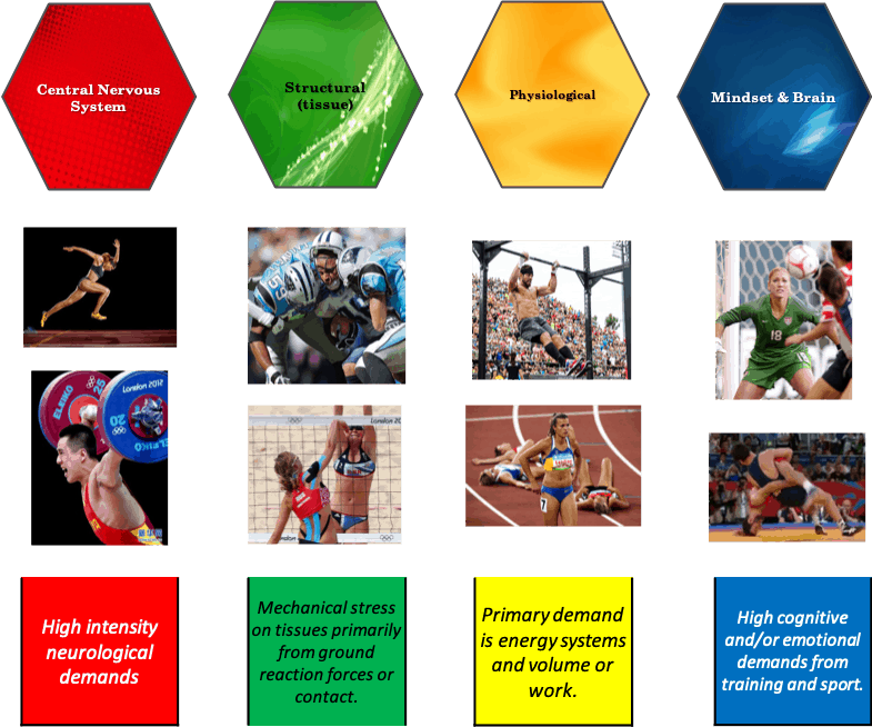 differnt types of sports recovery and stress